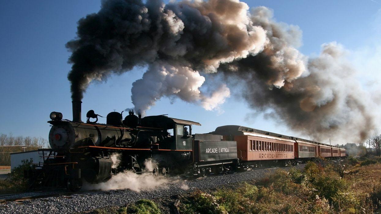 viejo tren vapor humo wallpaper