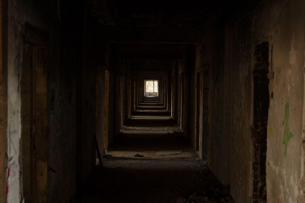 abandoned architecture building dark decay derelict dirty door eerie hallway home house light room shadow street travel window wallpaper