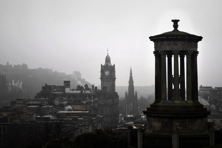 administration architecture art britain buildings carlton hill castle church city cloudy daylight edinburgh europe grey skies historic history landmark landscape mist monument outdoor wallpaper