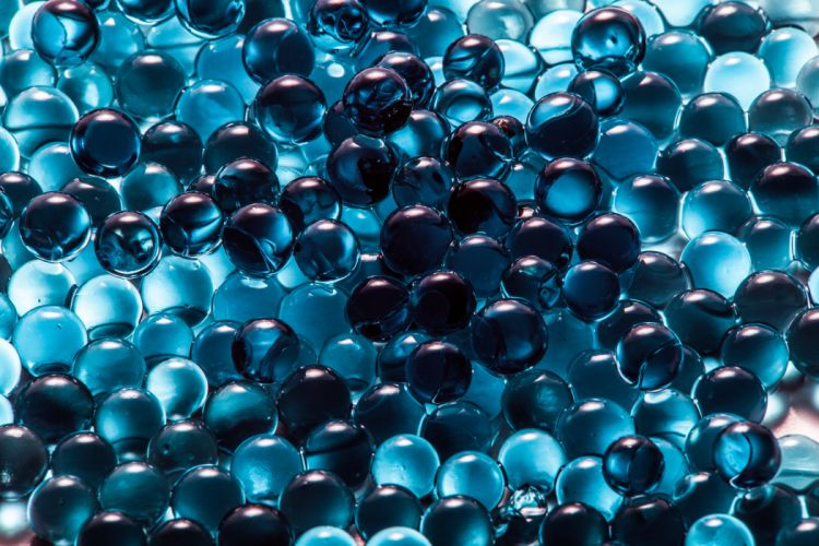 abstract balls blue spheres wallpaper