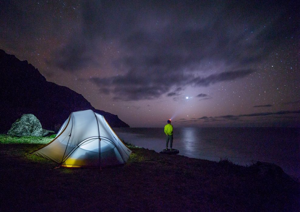 adventure camping night tent wallpaper