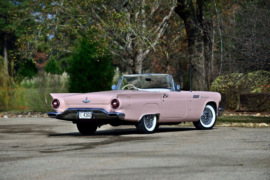 1957 Ford Thunderbird Convertible Muscle Old classic Vintage Original USA -03 wallpaper