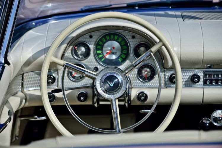1957 Ford Thunderbird Convertible Muscle Old classic Vintage Original USA -09 wallpaper