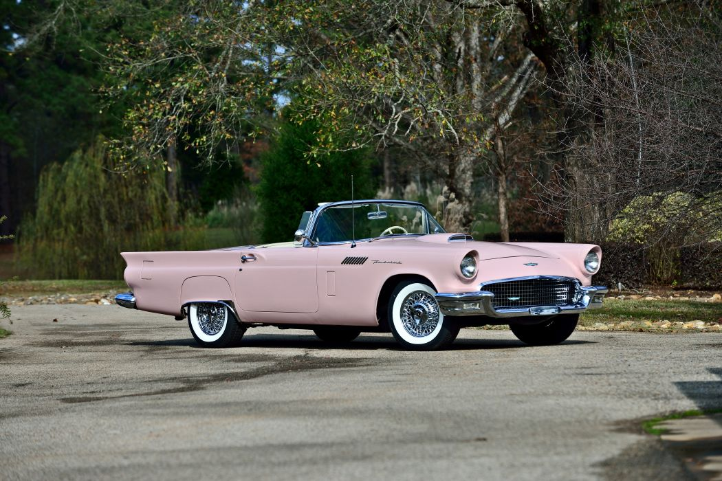 1957 Ford Thunderbird Convertible Muscle Old classic Vintage Original USA -12 wallpaper