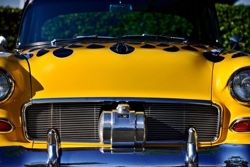 1955 Chevrolet Chevy Bel Air Bellar 210 Coupe Pro Touring Super Street Cruiser Rodder Rod Hot USA -06 wallpaper