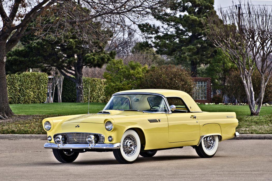 1955 Ford Thunderbird Convertible Classic Old Retro Original USA -01 wallpaper