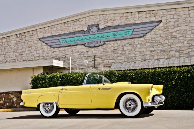 1955 Ford Thunderbird Convertible Classic Old Retro Original USA -03 wallpaper