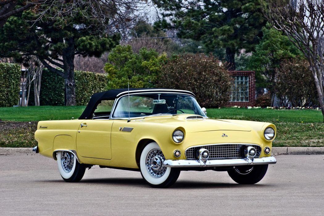 1955 Ford Thunderbird Convertible Classic Old Retro Original USA -02 wallpaper