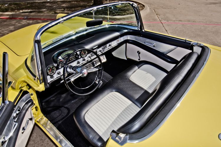 1955 Ford Thunderbird Convertible Classic Old Retro Original USA -12 wallpaper
