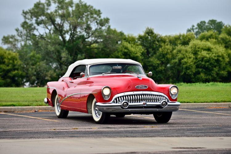 1953 Buick Skylark Convertible Classic Old Vintage Retro Original USA -10 wallpaper