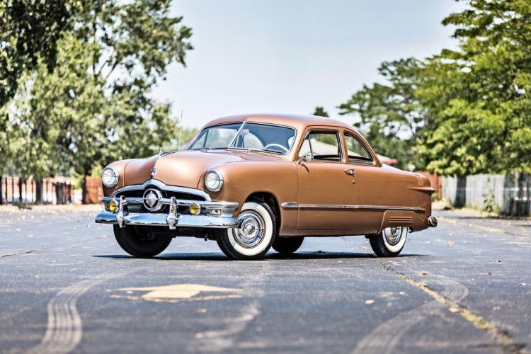 1950 Ford Delixe Coupe Classic Old Retro Vintage Original USA -01 wallpaper