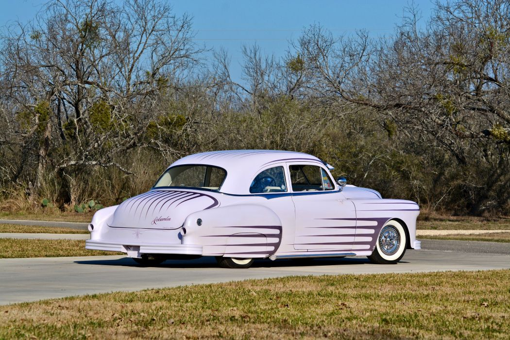 1951 Pontiac Chieftain Coupe Hotrod Hot Rod Custom Kustom Old School USA -07 wallpaper