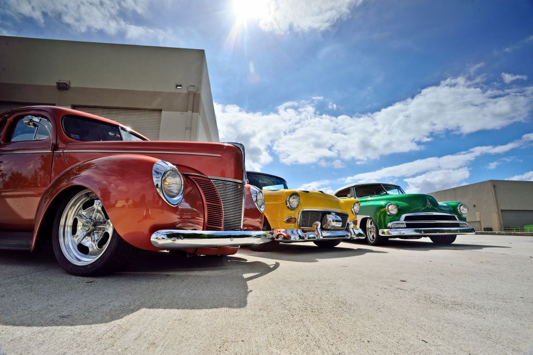 1940 Ford Coupe 1951 Chevrolet Chevy Coupe 1955 Street Rod Rodder Cruiser Hot USA -07 wallpaper