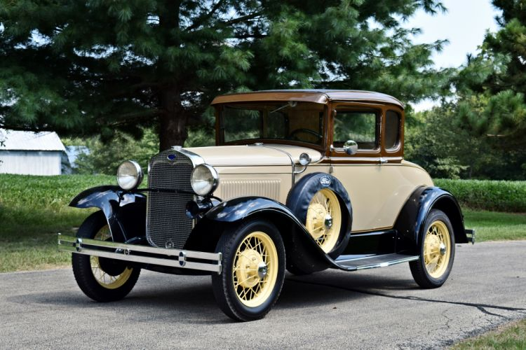 1930 Ford Coupe Model-A Five Window Old Classic Vintage Retro Original USA -01 wallpaper