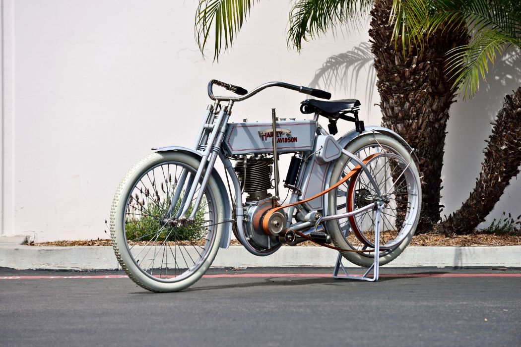 1910 Harley-Davidson Single Belt-Drive Motorcycle Bike Old Classic Vintage Historic Original USA -01 wallpaper