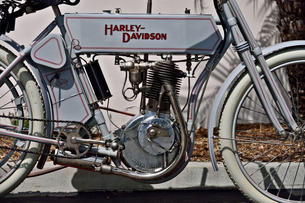 1910 Harley-Davidson Single Belt-Drive Motorcycle Bike Old Classic Vintage Historic Original USA -07 wallpaper