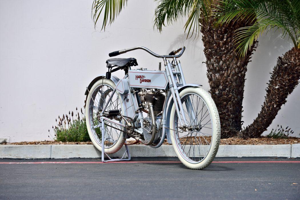 1910 Harley-Davidson Single Belt-Drive Motorcycle Bike Old Classic Vintage Historic Original USA -12 wallpaper