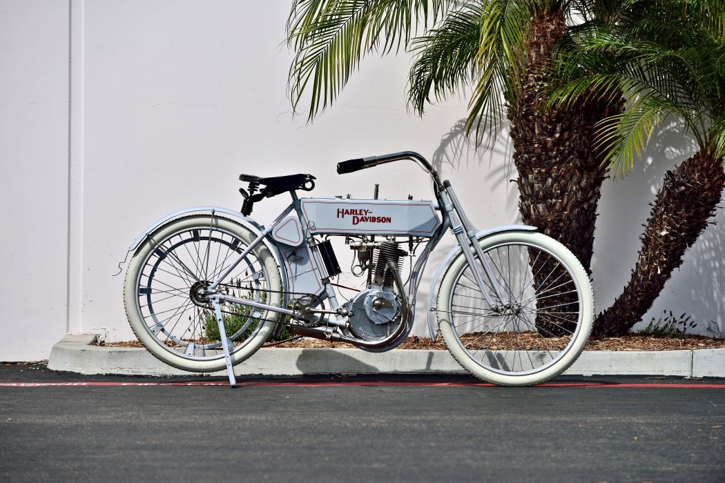 1910 Harley-Davidson Single Belt-Drive Motorcycle Bike Old Classic Vintage Historic Original USA -10 wallpaper