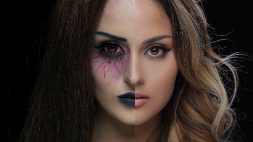 Face woman-girl-sexy-sensual-makeup wallpaper