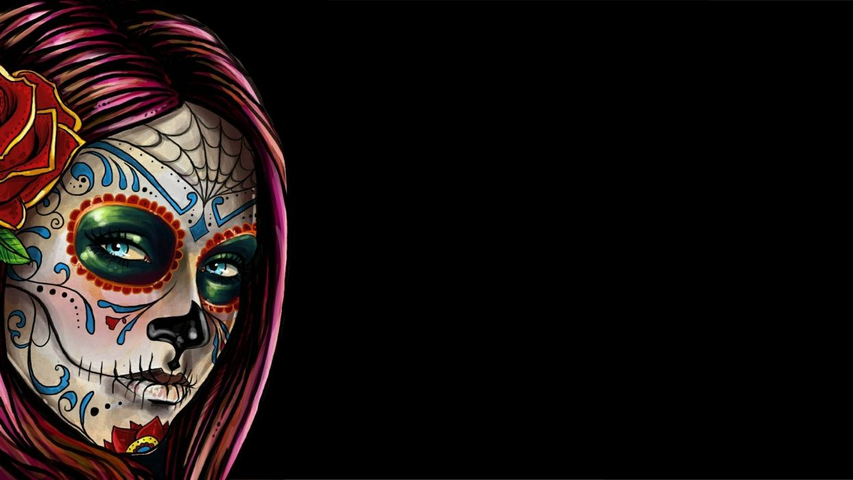 sugar skull makeup wallpaper - photo #11