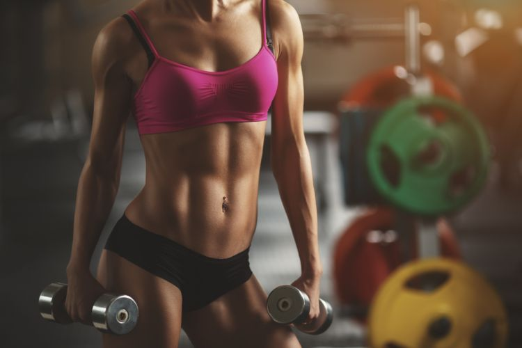 Sport woman-girl-sexy-sensuality-sensual-fitness-sportswear-workout-dumbbells-muscles-belly-tummy-navel wallpaper