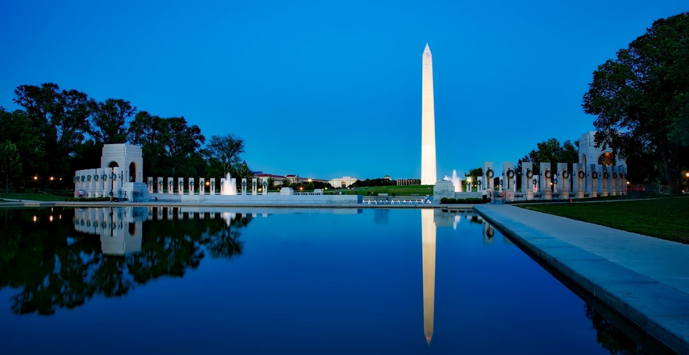 architecture attractions building city daylight dusk evening hdr historic landmark light lincoln memorial reflecting pool outdoors park picturesque reflecting pool reflection sky sunset tourism travel washington dc wallpaper