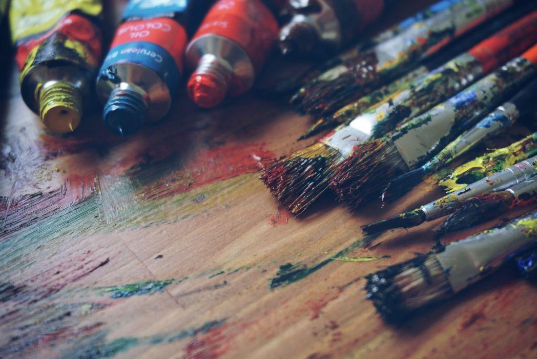 art artist brush brushes colorful colors colourful colours oil paint paint painting wallpaper