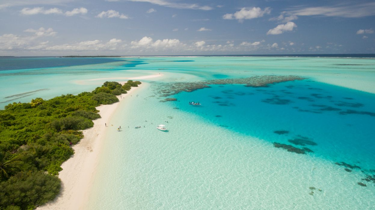 bay beach daylight fun horizon idyllic island lagoon landscape leisure nature ocean outdoors recreation relaxation sand sea seascape seashore summer surf swim tourism travel trees tropical turquoise vacation water wallpaper