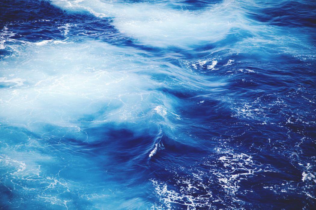 blue ocean sea water waves wallpaper