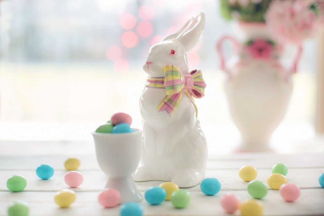 bunny candy celebration chocolate color colorful decoration dessert easter easter bunny easter eggs goody holiday indulgence party pastels pink rabbit sugar sweet traditional wallpaper