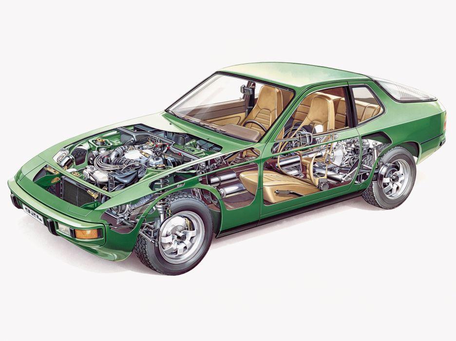 Porsche 924 Cutaway wallpaper