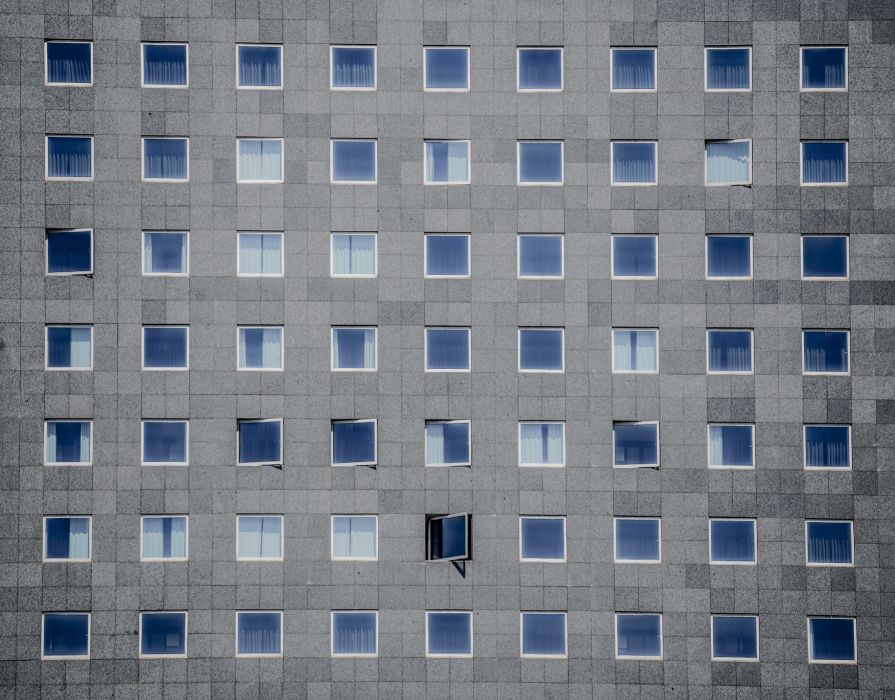 architecture building high-rise perspective windows wallpaper
