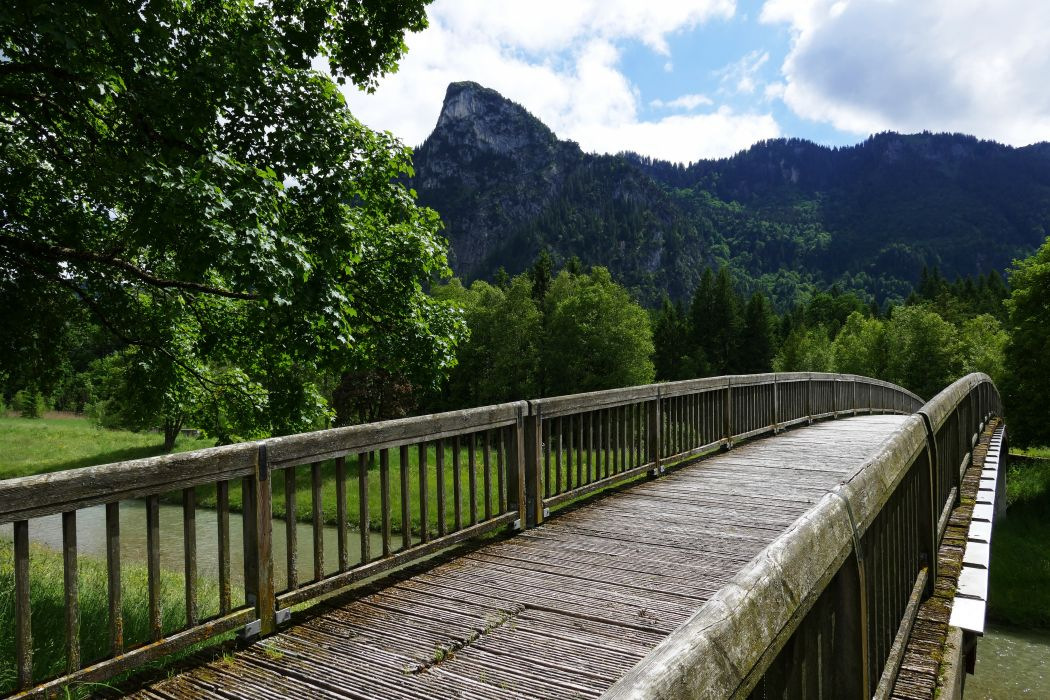 adventure boardwalk bridge daylight environment forest grass guidance idyllic lake landscape mountain mountains nature outdoors park pathway river scenic sky summer travel trees woods wallpaper