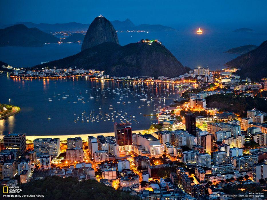 rio de janeiro noche brasil wallpaper