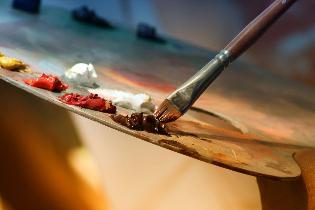 art artist brush colors colours macro paint paint brush paintbrush painting palette wallpaper