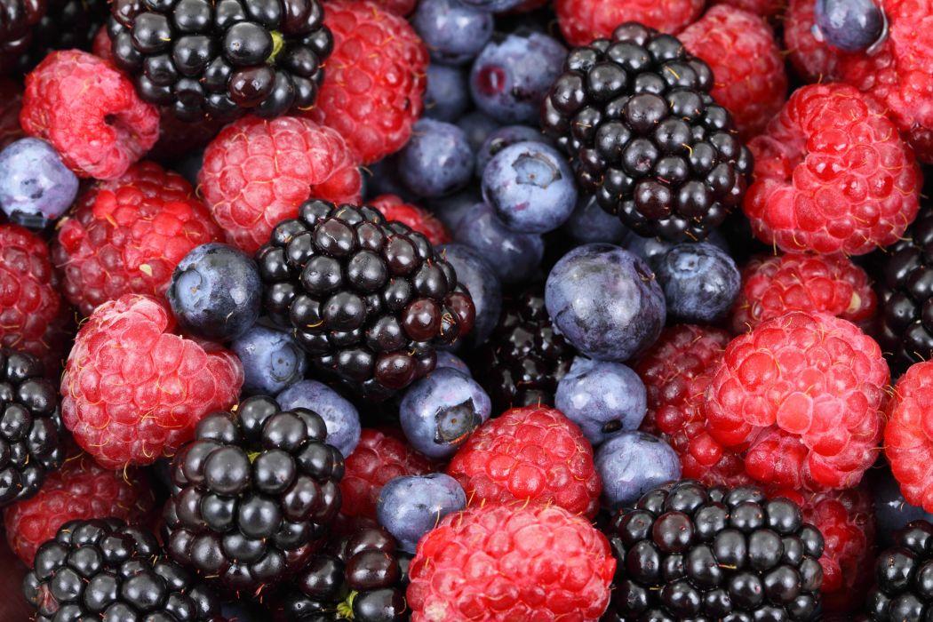 berries blackberries blueberries food fresh fruits healthy raspberries wallpaper