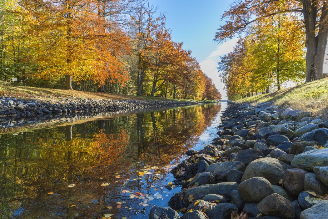 Autumn Canal Fall Landscape Nature Outdoors Park River Rocks Scenic Stream Trees Water Wallpaper