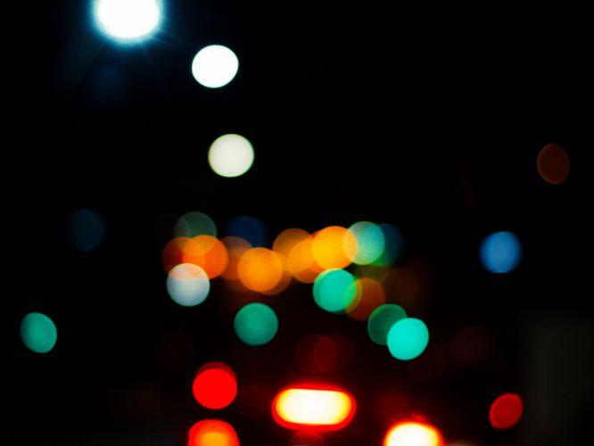 blur blurry bokeh dark lights wallpaper