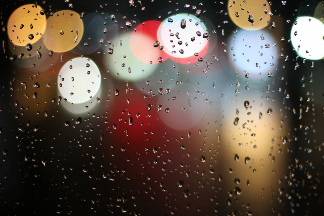 blur colorful colourful drops of water lights rain raindrops raining water window wallpaper