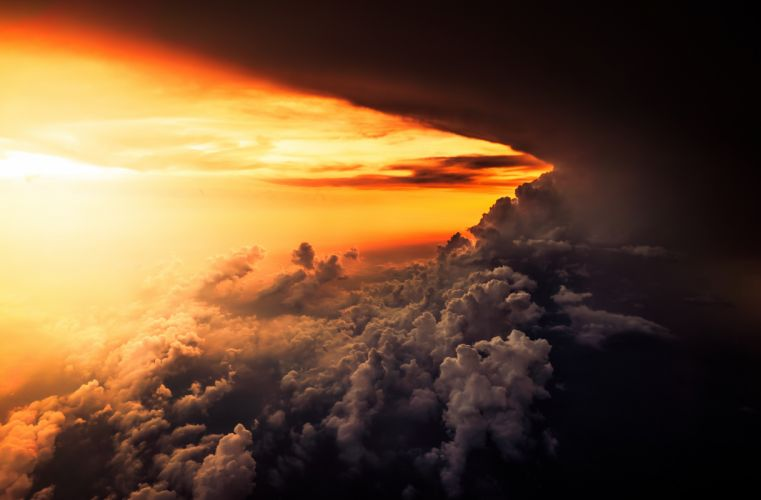 cloud cloudscape dark dawn dramatic dusk evening heaven light outdoors storm sun sunset weather wallpaper