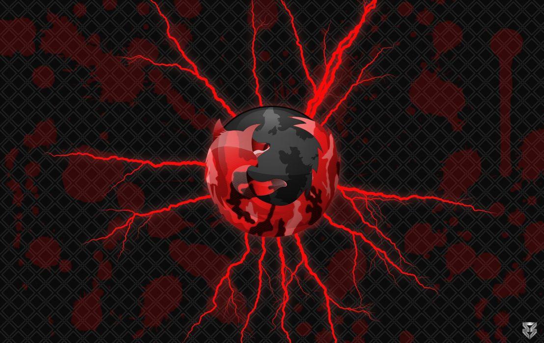 Red Camo Firefox wallpaper