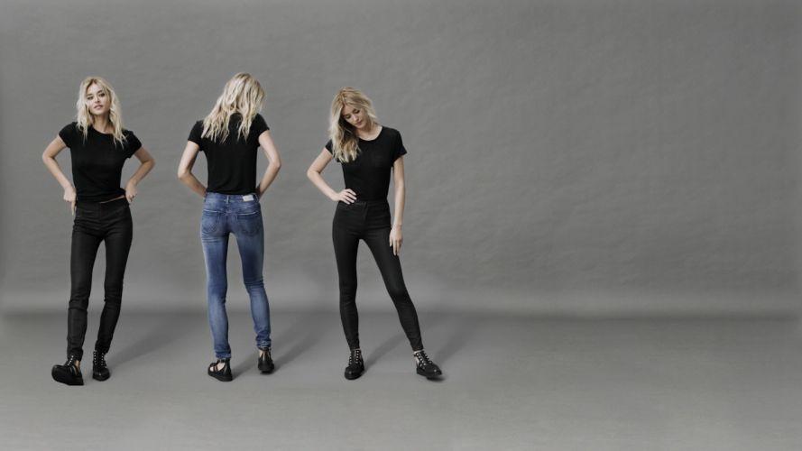 Sensuality woman-girl-sexy-sensual-jeans-denim-pants-blonde-model-jegging wallpaper