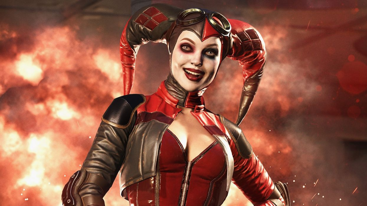 Game Woman Girl Sensuality Sexy Sensual Harley Quinn Injustice2