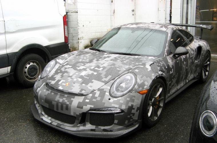Urban Camo Porsche wallpaper