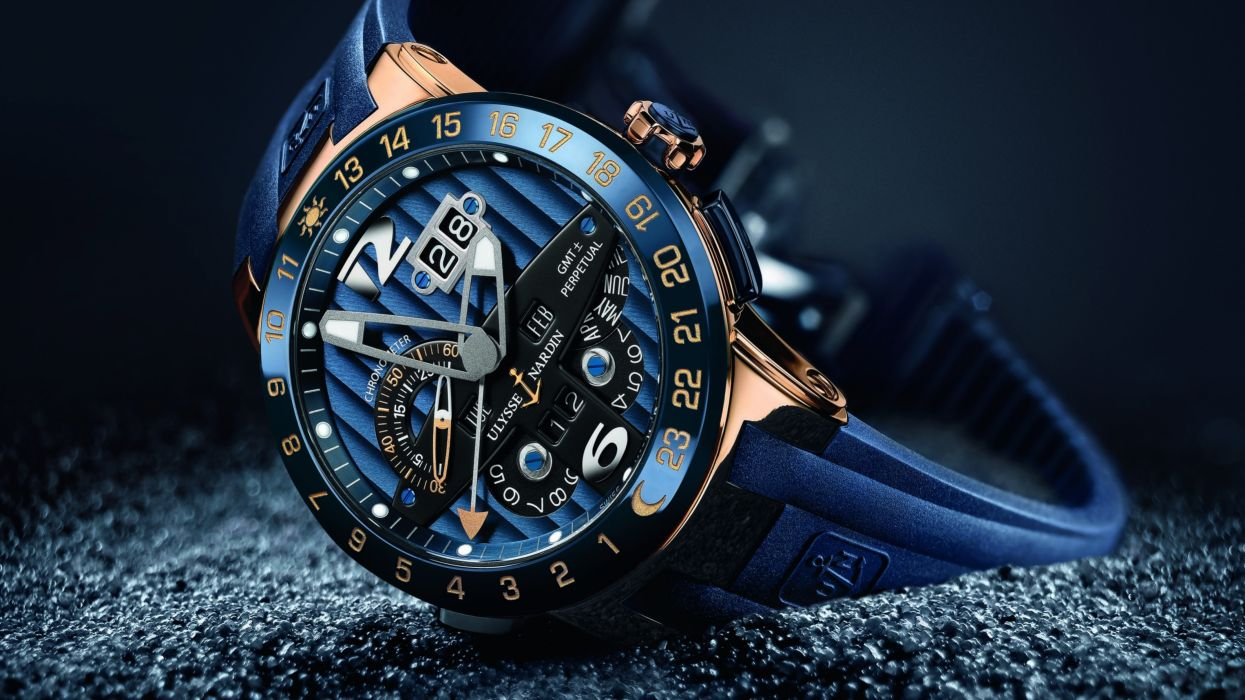 Watch Chronometer Ulysse Nardin blue wallpaper