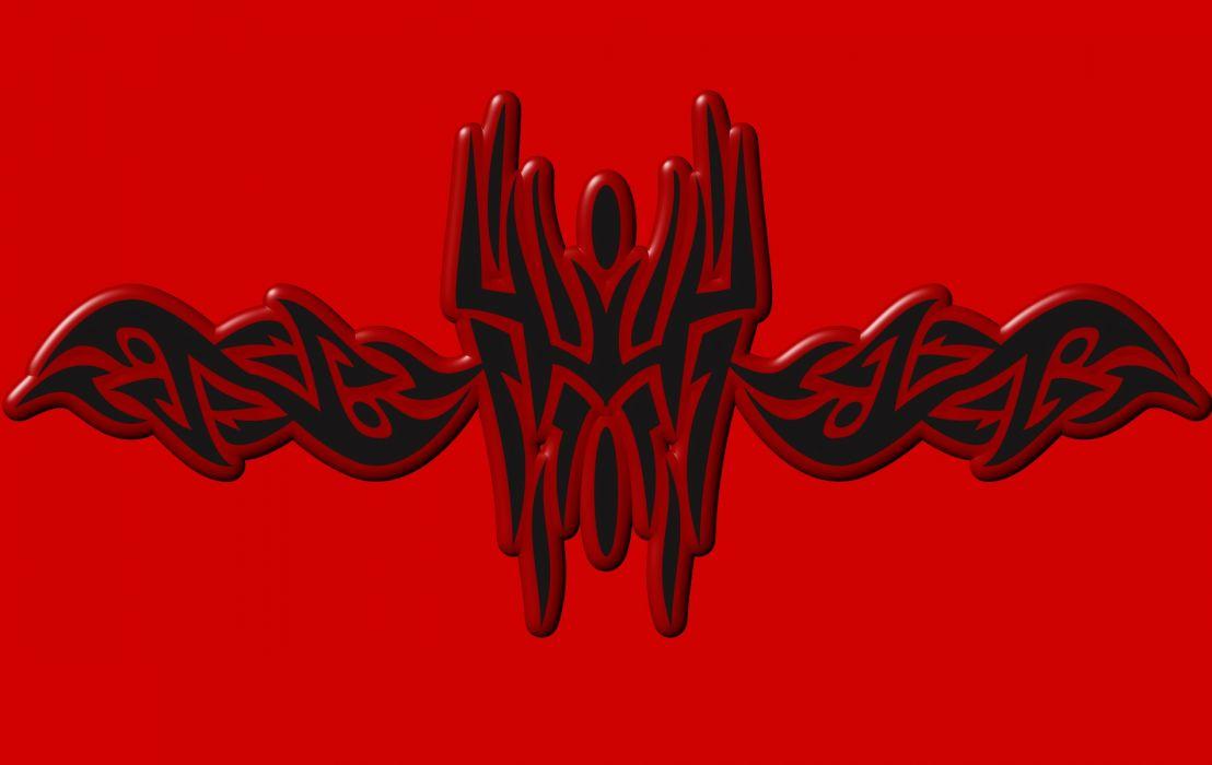 Tribal Red Embossed wallpaper