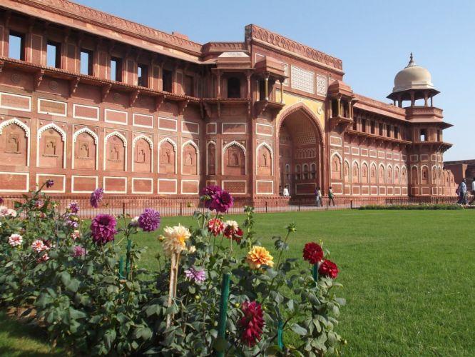 palacio jardin arquitectura rosas wallpaper