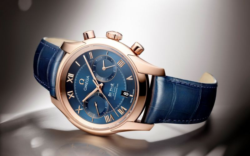 Omega Chronometer De Ville blue watch wallpaper