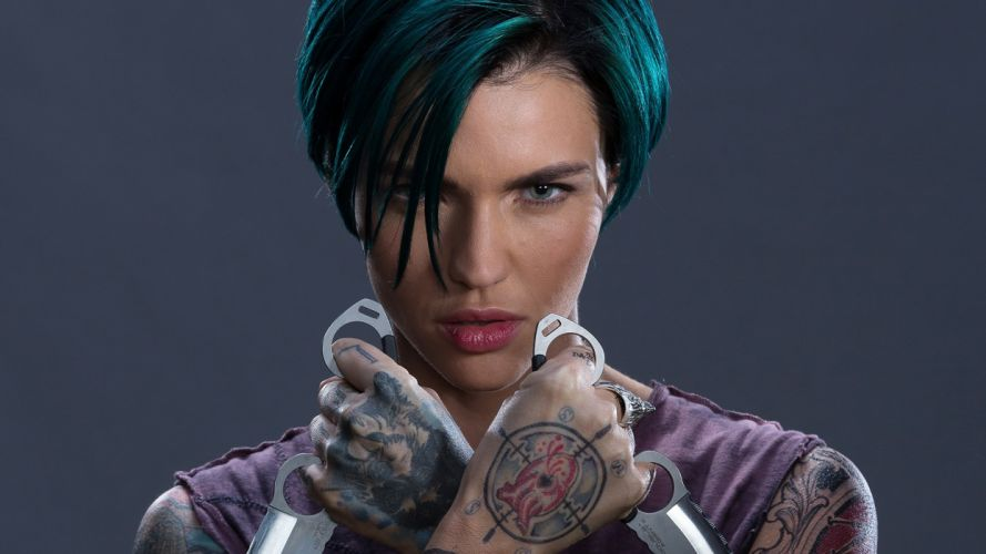 Face sensuality-sensual-sexy-woman-girl-Ruby Rose-xxx-return xander-cage-tattooed wallpaper