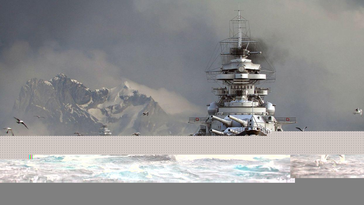 Game Battle World Of Warships Art Sea Seagull Wallpaper
